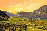 湖畔的葡萄园装饰画