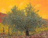 葡萄园旁大橄榄树装饰画