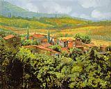 托斯卡纳美景美式田园风格装饰画