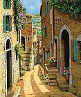 法国乡村巷子装饰画