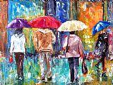 大红色雨伞印象装饰画