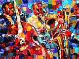 爵士三重奏音乐装饰画