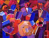 爵士乐音乐油画