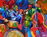 爵士节拍抽象装饰画