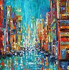 纽约城市印象卧室油画