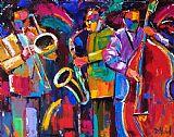 充满活力的爵士乐音乐装饰画
