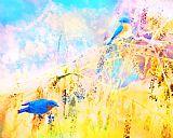 蓝鸟回报装饰画