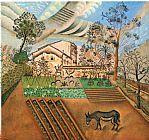 菜园与驴装饰画