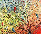 百鸟动物装饰画