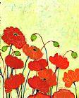 热切的绽放花卉装饰画