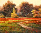 花海草甸美式田园风格装饰画