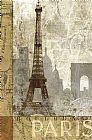 四月在巴黎写实装饰画