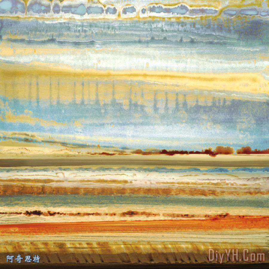 罗德里格斯地平线山川草木 抽象 天际线 旷野 地平线山川草木油画定