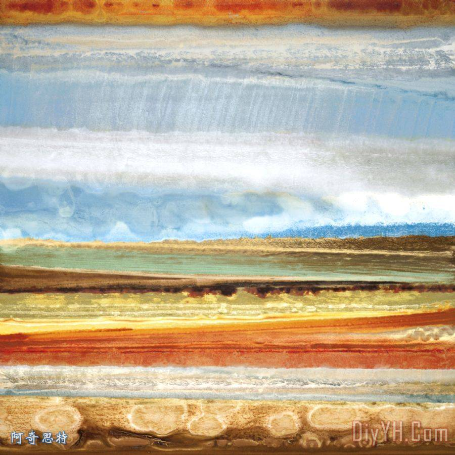 风景 抽象 天际线 旷野 地平线山川草木ii油画定制 阿奇思特