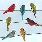 电线上的鸟儿装饰画