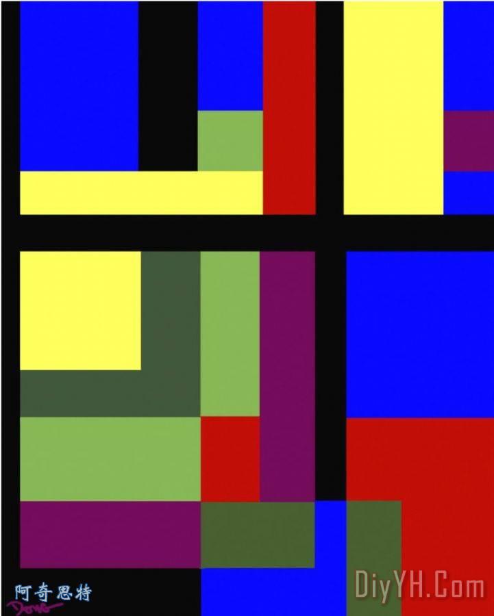 颜色的信封装饰画 颜色的信封油画定制 阿奇思特