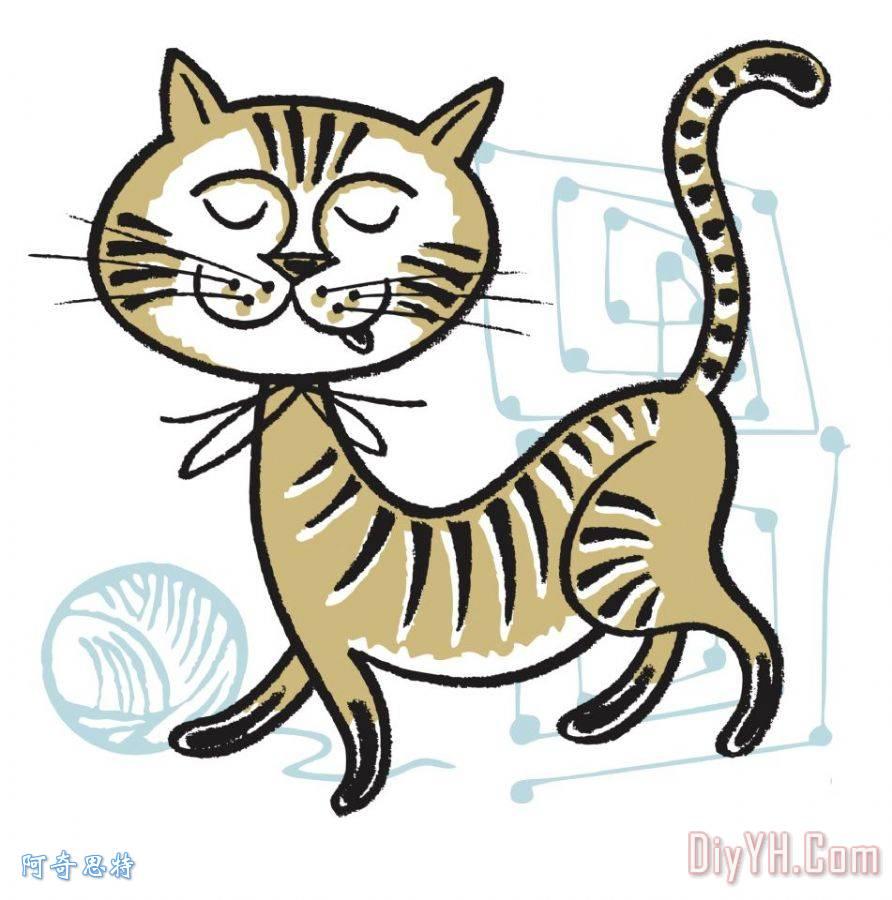 猫和纱线的国防部背景装饰画_动物_猫和纱线的国防部