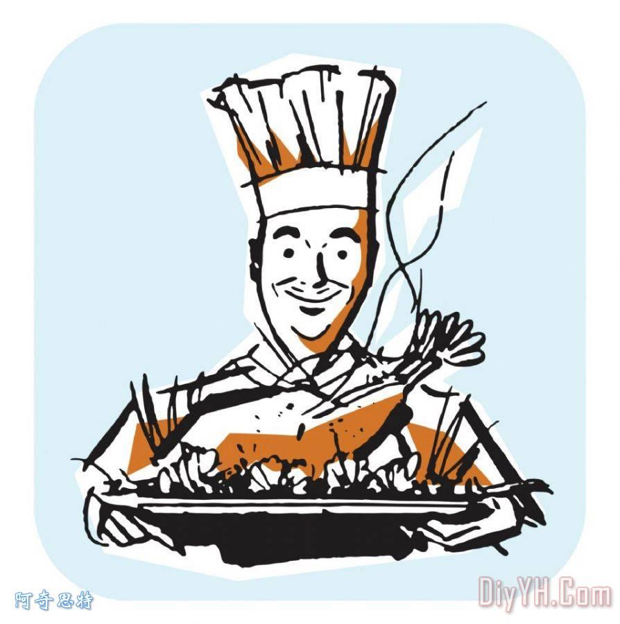 厨师与感恩节火鸡