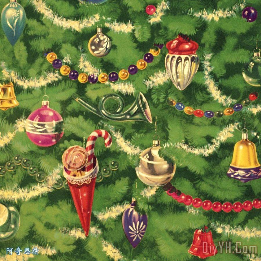 圣诞树特写 - 圣诞树特写装饰画