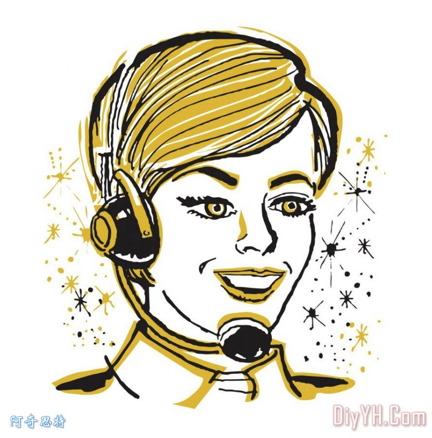 女电话接线生 - 女电话接线生装饰画
