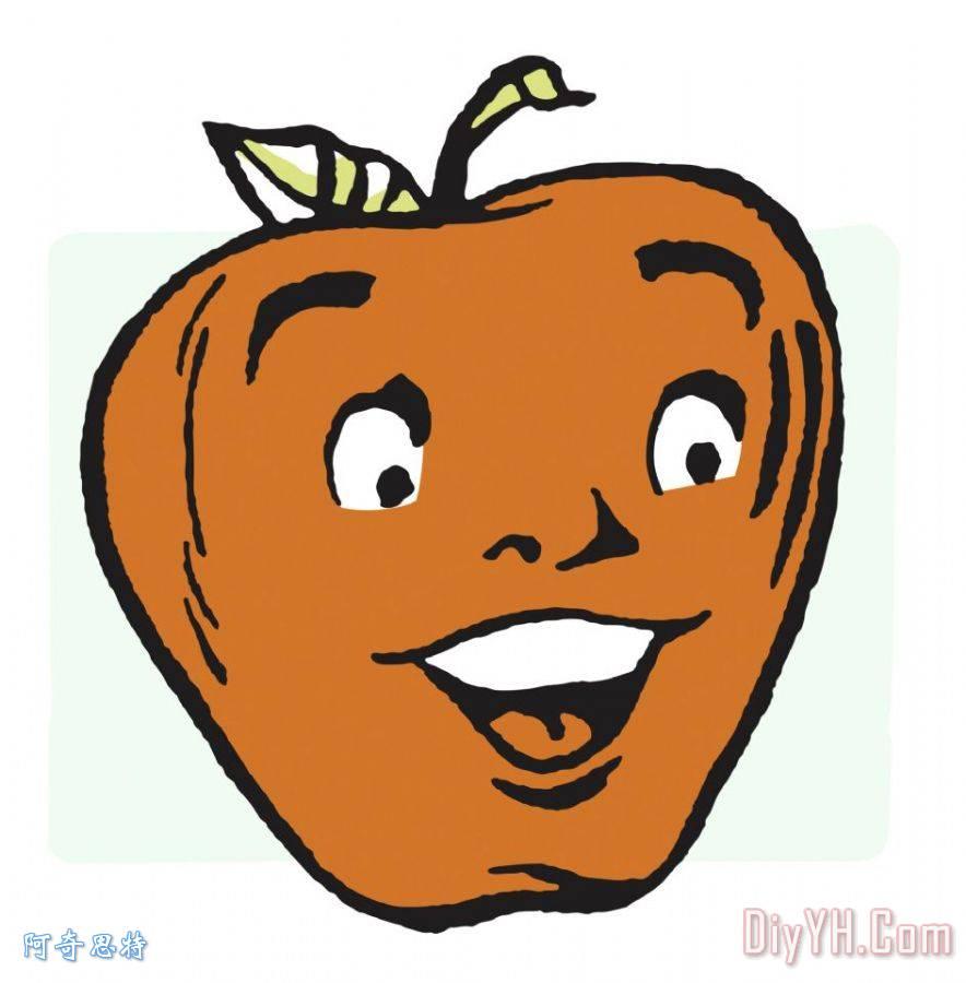 幸福的苹果脸 - 幸福的苹果脸装饰画