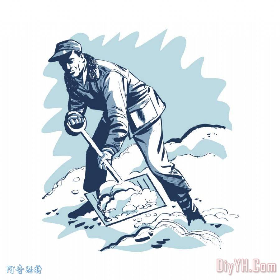 冬季男生雪景头像
