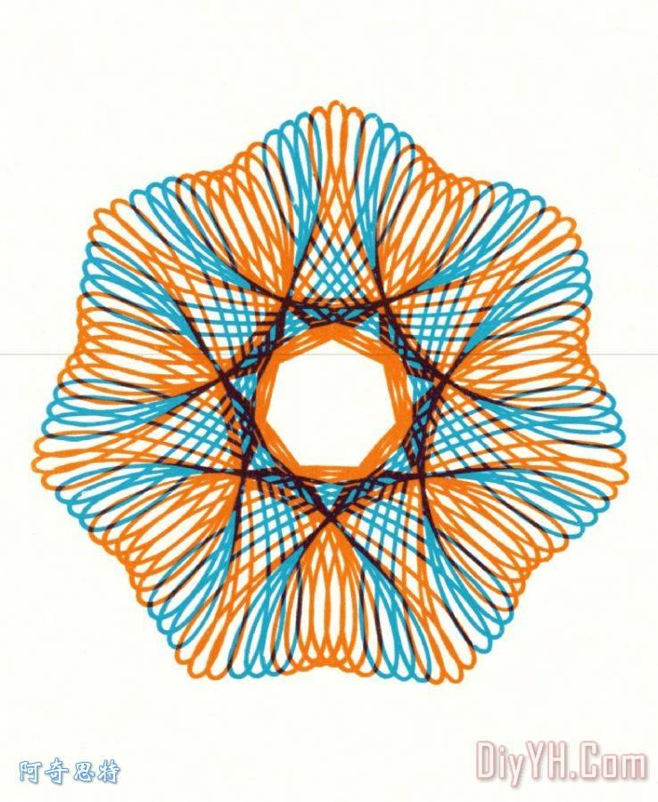线条设计水印矢量图