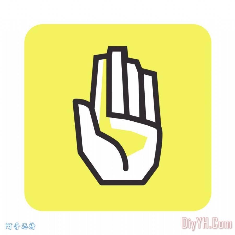 手掌图案矢量图