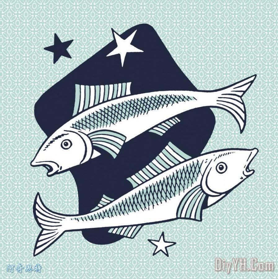 双鱼座的符号 - 双鱼座的符号装饰画