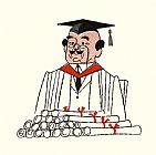 与教授文凭装饰画