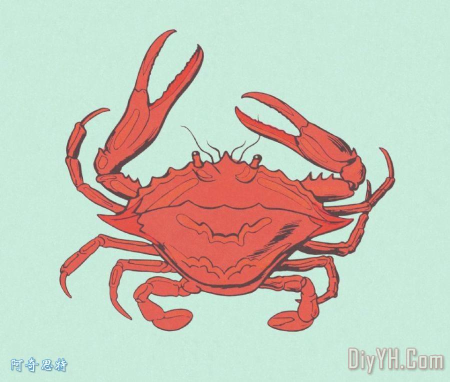 剪纸图案大全简单图解 螃蟹