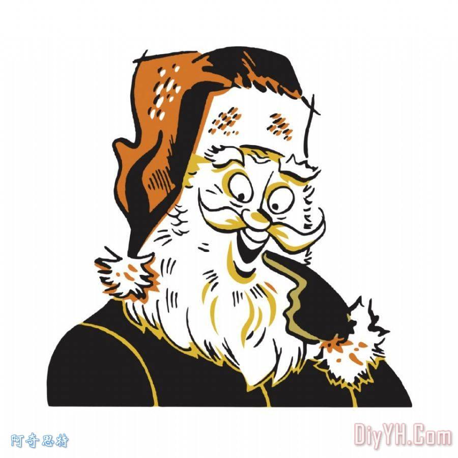 微笑的圣诞老人 - 微笑的圣诞老人装饰画