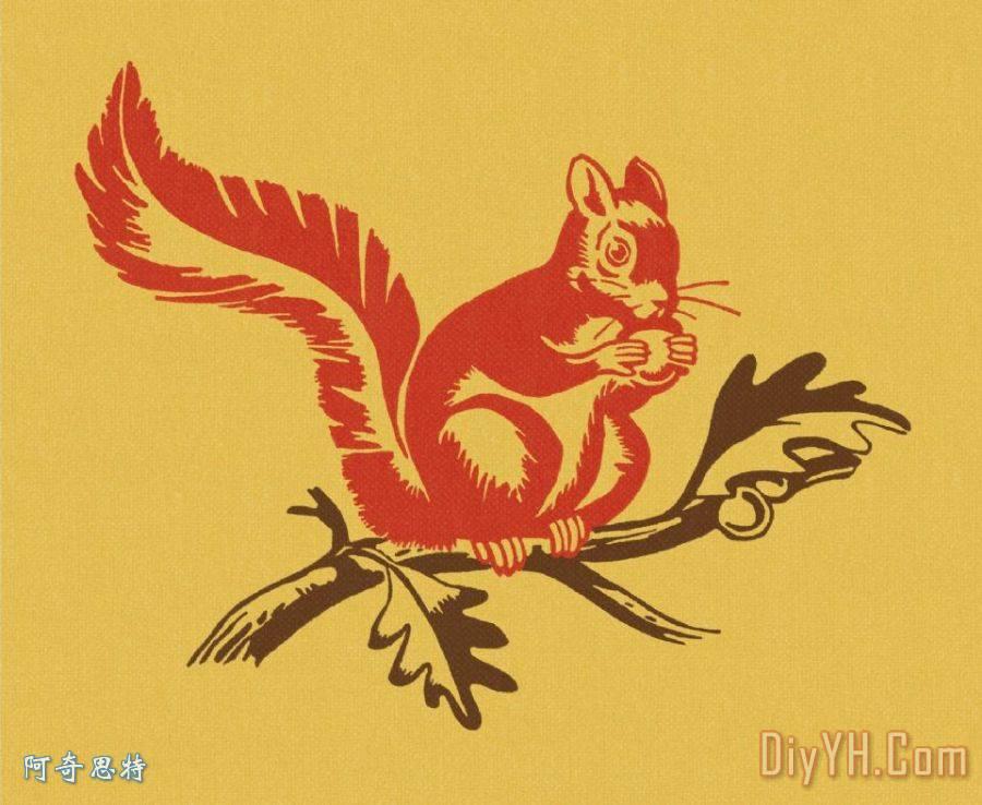 动物小松鼠剪纸