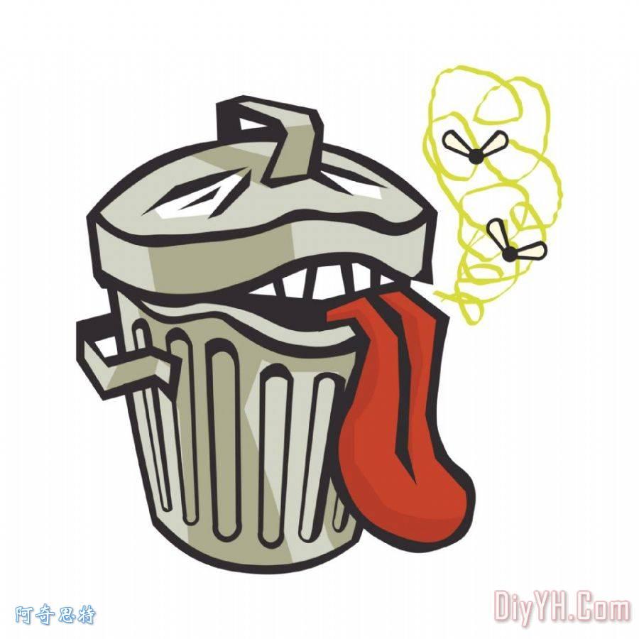 臭垃圾桶 - 臭垃圾桶装饰画