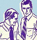 - 两个男人打领带