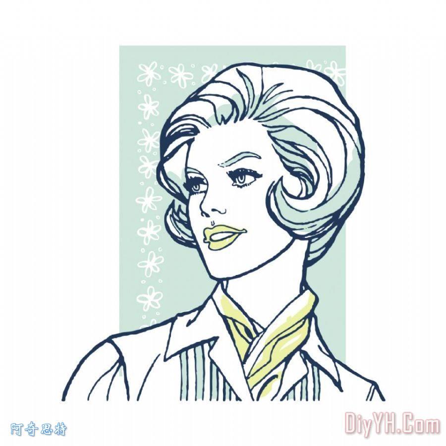 围巾卡通手绘图