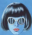 - 女人戴太阳镜