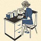 - 妇女工作在一台
