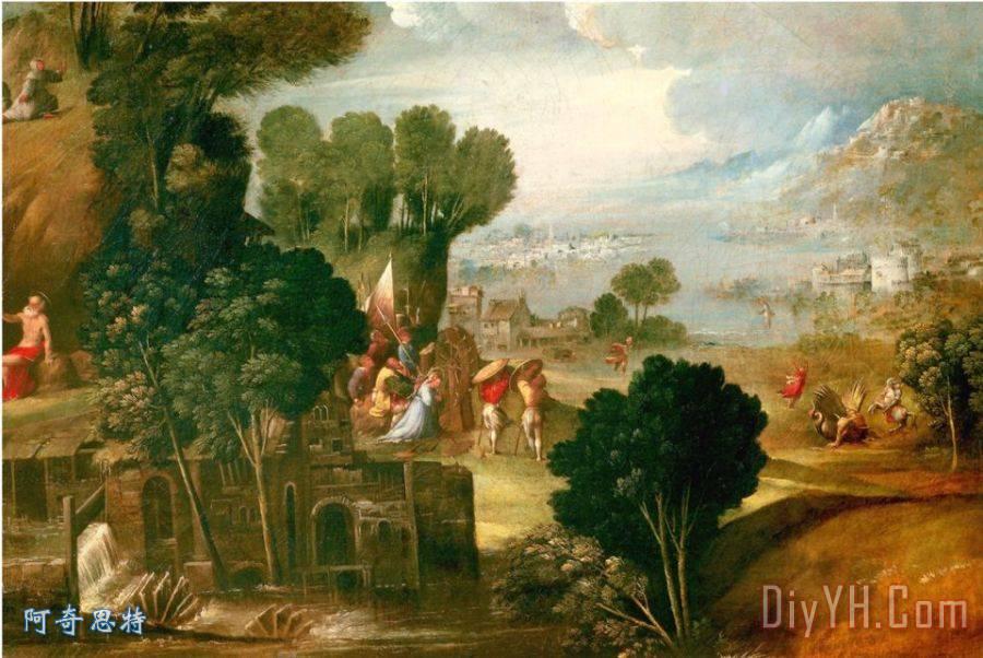 景观与圣徒装饰画_风景_景观与圣徒油画定制_阿奇思特