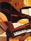 抽象钢琴音乐装饰画