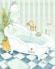 爪浴池装饰画