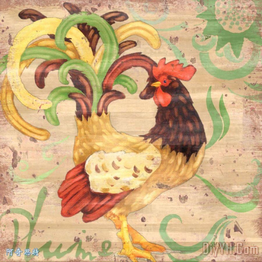 金鸡手绘装饰图片