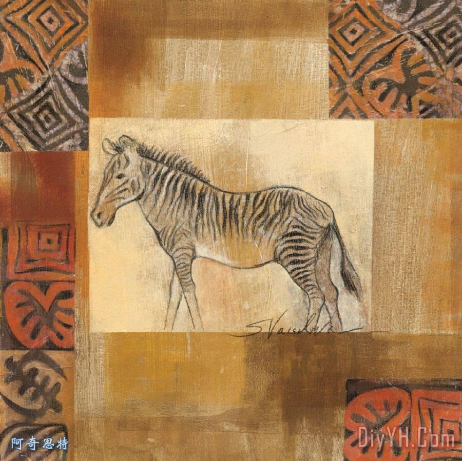 非洲动物ii装饰画_非洲动物ii油画定制_阿奇思特