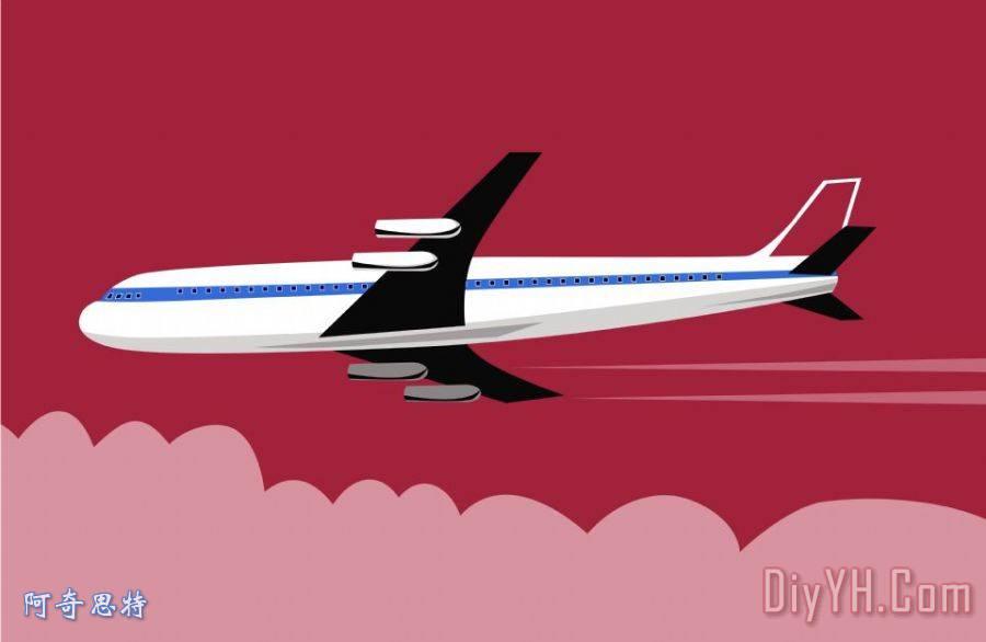 巨型喷气式飞机复古