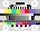 彩色电视信号测试模式写实装饰画