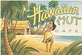 夏威夷小屋咖啡馆装饰画