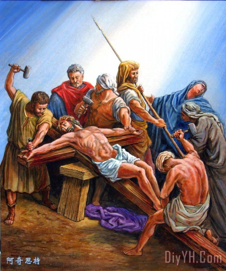 耶稣钉在十字架上 - 耶稣钉在十字架上装饰画