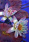两个粉红色的睡莲装饰画