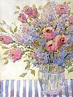粉红色的玫瑰和紫丁香装饰画