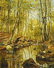 - 一个树木繁茂的景观河